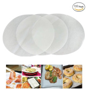 Mity Rain (set of 100) Non-Stick Round Parchment Paper 20cm diameter, Baking Paper Liners Round for Cake Pans Circle