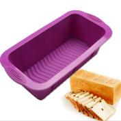 Katoot@ 1pcs DlY Rectangle 3D Shape Silicone Cake Bread Mould Baking Mould Bakeware Cake Pan Craft Mould - Colour Random