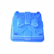 X-Haibei 20cm Happy Birthday Gift Box Cake Pan Pizza Gelatinas Baking Silicone Square Mould