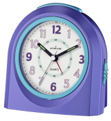 ATRIUM alarm clock analogue purple silent, with light and snooze function A921-8