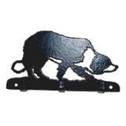 Border Collie Lovers Gift – KEY RACK - Ironwork silhouette Dog Shaped Key Rack – Unique quality hand made 3 Hook Key / Lead Rack