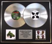 GORILLAZ/DOUBLE CD PLATINUM DISC RECORD DISPLAY/LTD EDITION/COA/GORILLAZ & DEMON DAYS