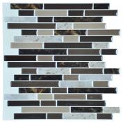 Art3d Self Adhesive Wall Tile Peel and Stick Backsplash for Kitchen, Long Marble Design 30cm x 30cm