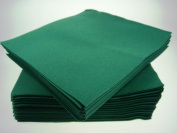 Pack of 50 Luxury Green Airlaid Napkins - Linen Feel
