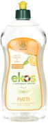 EKOS - Organic Detergent for Dishes and Cookware - Degreases and Sanitises Gently - Without Perfumes and Synthetic Dyes - Nickel Tested - 750 ml