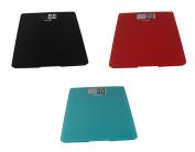 Escali Glass Platform Bathroom Scale, 440 Lb / 200 Kg - Black, Red and Blue, Set of 3