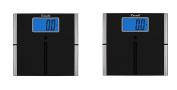 Escali Ultra Slim Easy Read Body Scale, 440Lb / 200 Kg, Set of 2