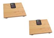 Escali Solar Bamboo Bathroom Scale, 400 Lb / 180 Kg, Set of 2