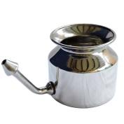 High Grade Stainless Steel Neti Pot With 5 Sachet Neti Salt and Instruction Leaflet | Sinus Remover Neti Pot
