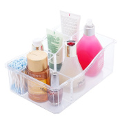 Choice Fun Acrylic Makeup Organiser Bathroom Vanity Tray Storage Case with 6 Compartments