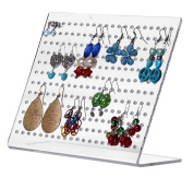 Marketing Holders Slant Back Acrylic Earring Holder Display - Holds 120 Pairs of Earrings