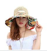 Sun Beach Hat, gloednApple Women Summer Flower Straw Wide Large Brim Sun Hat Caps