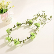 Flower Hair headband, Flower Fairy Bohemian Braid Wedding Crown for Summer Beach Party