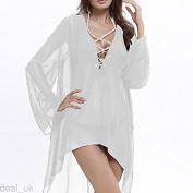 gloednApple Bikini Cover Up, Women Chiffon Beach Top Dress Swimsuit Shirt Dress Bathing Suit Cover Summer