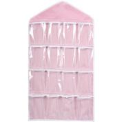 Practical 16 Pockets Clear Over Door Hanging Bag Shoe Rack Hanger Underwear Bra Socks Closet Storage Organiser