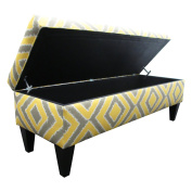 """Sole Designs Nouvea Collection Upholstered Storage Bench with Built in Storage, 140cm x 48cm x 19"""" Dijon"""