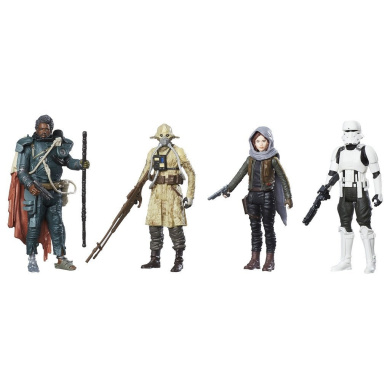 "STAR WARS C1231EU40 ""Rogue One Jedha"" Revolt Figure (Pack of 4)"