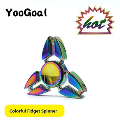 YooGoal EDC Spinner Fidget Toys Pattern Hand Spinner Metal Finger Spinner Anti Stress and ADHD Adult decompression toys Action