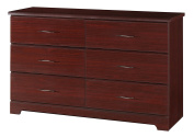 Storkcraft Brookside 6 Drawer Dresser, Cherry