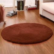 Noahas 1.2m Luxury Round Area Rugs Super Soft Living Room Bedroom Carpet Woman Yoga Mat, Coffee