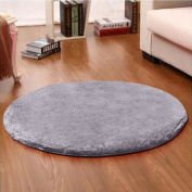 Noahas 1.2m Luxury Round Area Rugs Super Soft Living Room Bedroom Carpet Woman Yoga Mat, Grey