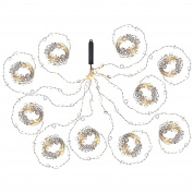 WeRChristmas Heart Copper Wire Garland Light String, 3 m - White