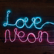 Make Your Own Neon Effect Sign 3M Neon String Light Message Kit Party Birthday BLUE