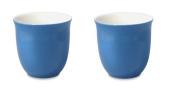 For Life Glazed Ceramic Japanese Teacup for Two in Blue 192ml/6.5fl oz