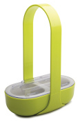 "zakdesigns Serving Aid ""Caddy"" with 2 compartments, Green/White"