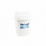 White 5Lt Plastic Flip Swing Top Waste Paper Bathroom Bin