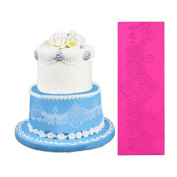 Food grade large lace mould, wedding cake around the decorative mould, large lace lace silicone pad LFM-40