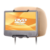 WANPOOL Car Headrest Mount Holder for Portable DVD Player, fit Swivel Screen & Standard Laptop Style Portable DVD Player, Beige