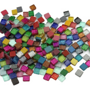 200Pcs/200g Mosaic Tiles Decoration Crafts 10MM Rectangle Mixed Colour Glass