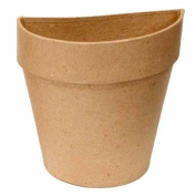 Set of 6 Ready To Decorate Paper Mache Half Flower Pots for Crafting, Creating and Designing