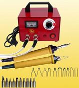 TOPCHANCES 110V Multifunction Pyrography Machine Gourd Wood Pyrography Crafts Tool 100W YN