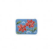 Stitch & Zip Needlepoint Purse/Cosmetic Case Kit - SZ597 Red Floral