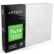 Arteza 11 X 14 Canvas Panels, 100% Cotton