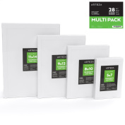 Arteza Canvas Panels, 100% Cotton, Multi-Pack 5 x 7, 8 x 10, 9 x 12, 11 x 14