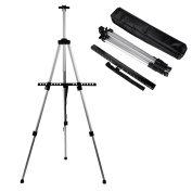 Aluminium Easel CONDA- Tall Collapsible Aluminium Light Weight Painting Drawing Art Easel - 150cm include Black Carry Bag