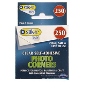 Clear Photo Corners with Convienient Dispenser – Pack of 250, by Stik-ie