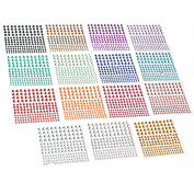 2580 pcs Rhinestone Stickers in 15 Colours & 3 Sizes, 15 Sheets DIY Self Adhesive Colourful Gem Rhinestone Embellishment Stickers Sheet Fits for crafts, body, nails, etc.