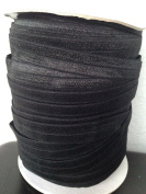 Item4ever® 50 YARD FOE Fold Over Elastic, Black colour, 5/8