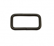 Tianbang Gun Black 3.8cm x 2cm Inner Dimension Non Welded Rectangle Buckle for Strap Pack of 10