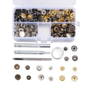 69 Sets Snap Button Fastener Kit Tool Press Studs Fastener Snap on Set Clothing Snaps Kit Fixing Tool (633(12.5mm)) by Outee