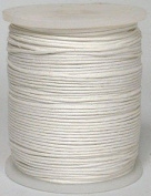 Maine Thread - Blue Bird 2mm Milky White Polished Braided Cotton Cord. 100 metres per spool. Includes 1 spool.