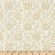 Raschelle Lace Champagne Fabric By The Yard