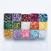 5mm Mix 15 Colours Rainbow Cup Sequin for Wedding Decoration