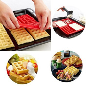 SONG LIN 4-Cavity Rectangle Shape Waffles Cake Chocolate Pan Silicone Mould Kitchen Baking Mould