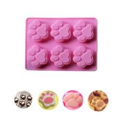 Baking Mould Foutou Kitchen Silicone Mini Cat Paw Print Cake Chocolate Pan Soap Ice Cube