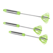 Ronco Self Turning Turbo Whisk,Green (3 Pack) Save valuable time and energy when whisking for food prep